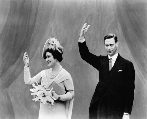 King George VI and his wife Elizabeth