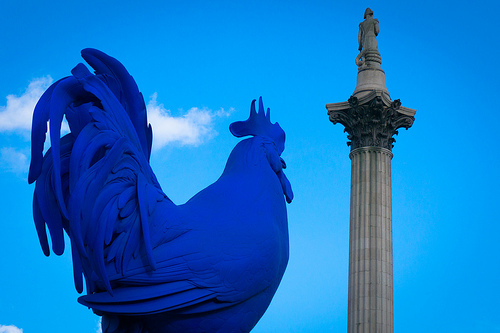 A Giant Blue What in Trafalgar Square?