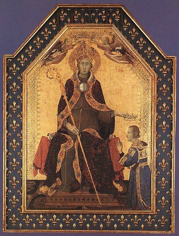 Saint Louis of Toulouse by Simone Martini
