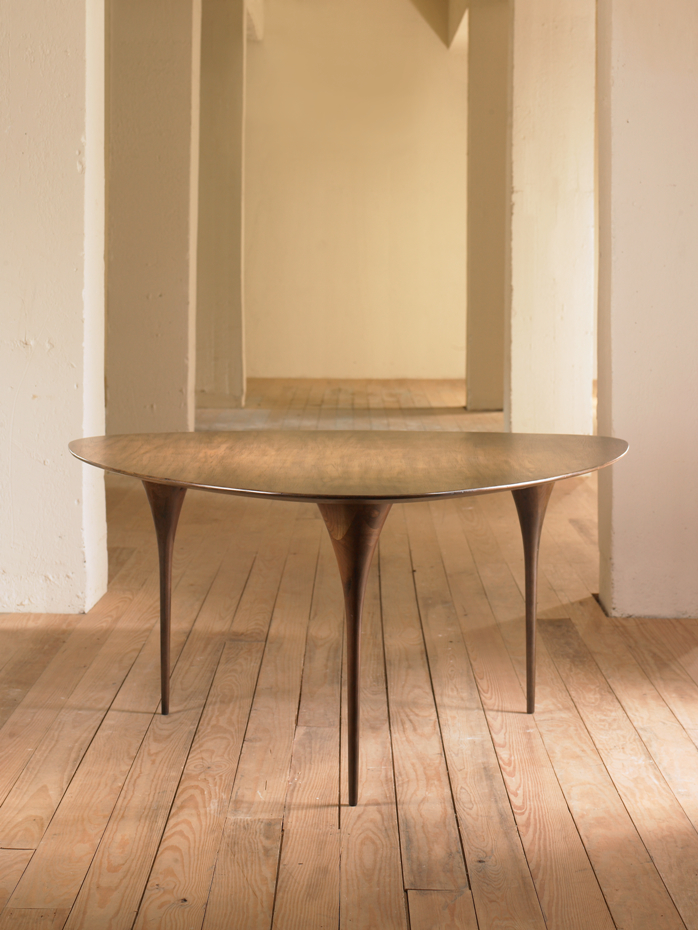 Would your mother-in-law be happy, nay honoured, nay awe struck to be seated at such a dining table? I think she would. Get thee to Decorex! Julian Chichester, Viggo Dining Table in Firmdale Grey Oak.