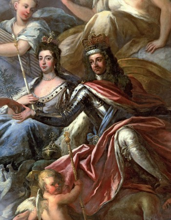 William and Mary Painting by Sir James Thornhill