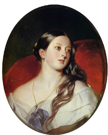 A portrait of Queen Victoria in 1843