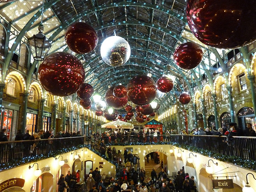 Christmas Shopping in Covent Garden