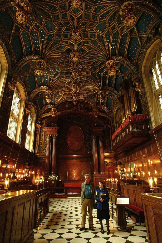 The Chapel Royal at Hampton Court Palace has been in continuous use for over 450 years. The magnificant vaulted ceiling was installed by Henry VIII in 1535-6. Credit: Richard Lea-Hair/HRP/newsteam.co.uk