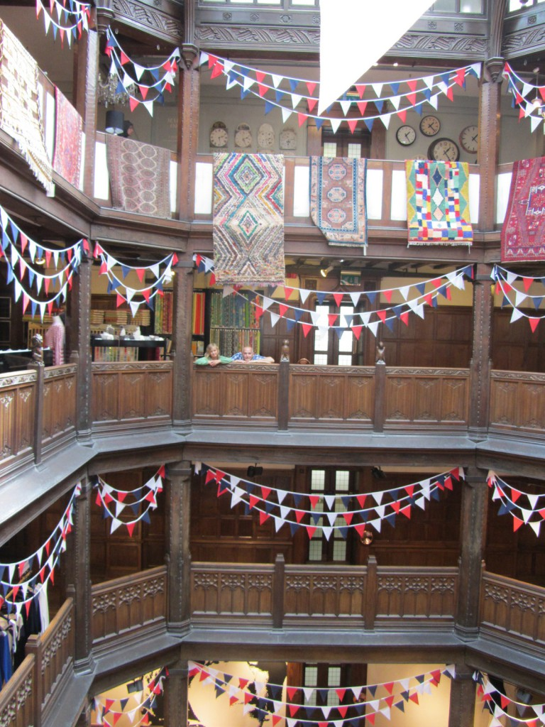 The main atrium at Liberty, a multi storey space for displaying Ottoman carpets and any excess bunting you may have.