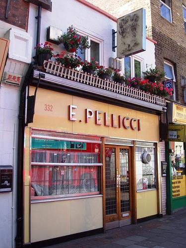 E Pellicci in Bethnal Green London