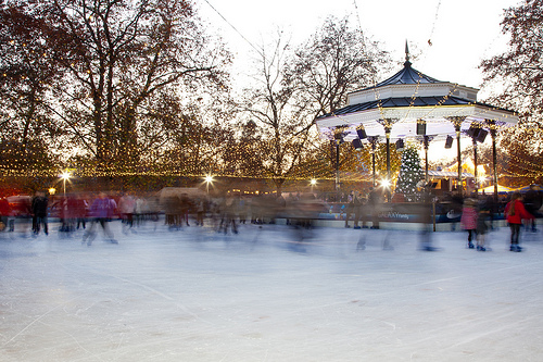 Winter Wonderland in Hyde Park Ice Skating in London