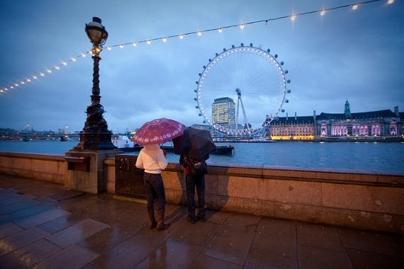 Beautiful London in the Rain