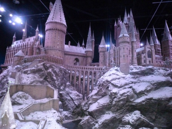The impressive scale model of Hogwarts School of Witchcraft and Wizardry.