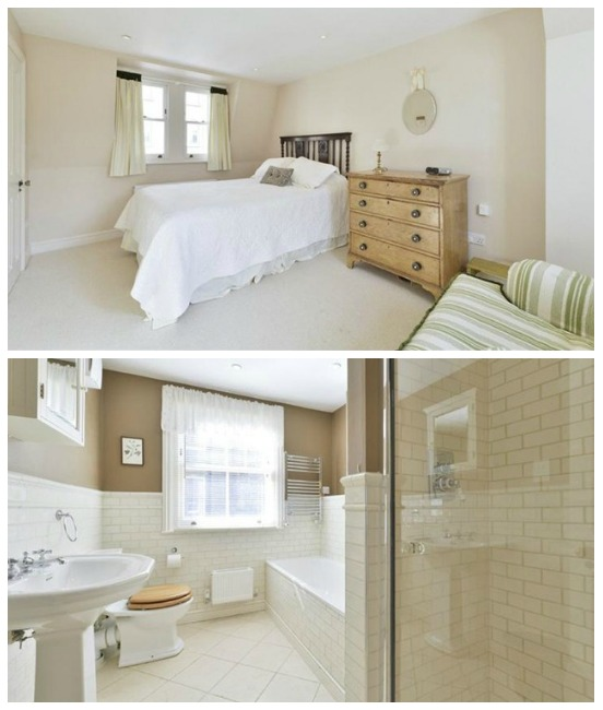 Beautifully finishes bedrooms and bathrooms in this London townhouse
