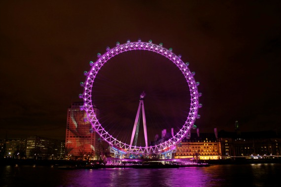 Valentine's Day in London at the London Eye