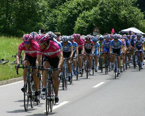 Cyclists from the Tour de France