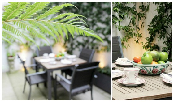 Beautiful Garden Patio in London Home Rental Chelsea