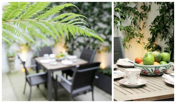 Beautiful Garden Patio in London Home Rental Chelsea