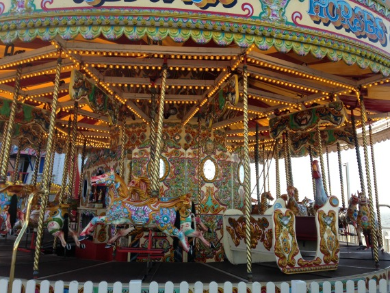 Take a spin on a carousel in Brighton