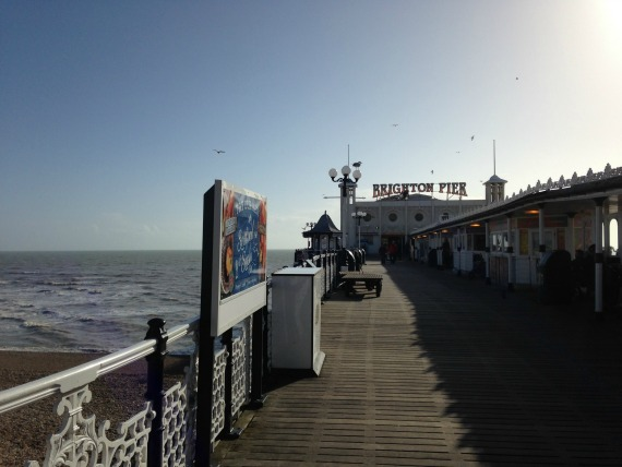 Take a stroll in the sunshine on the Brighton Pier
