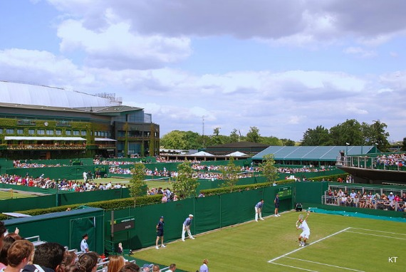 A view over the courts of Wimbledon