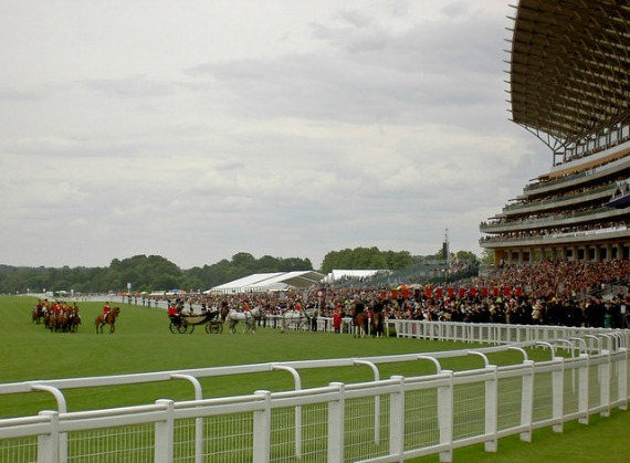 The Royal Family arrive at Ascot