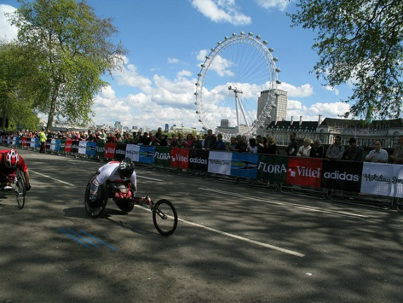 London Marathon Along the Thames