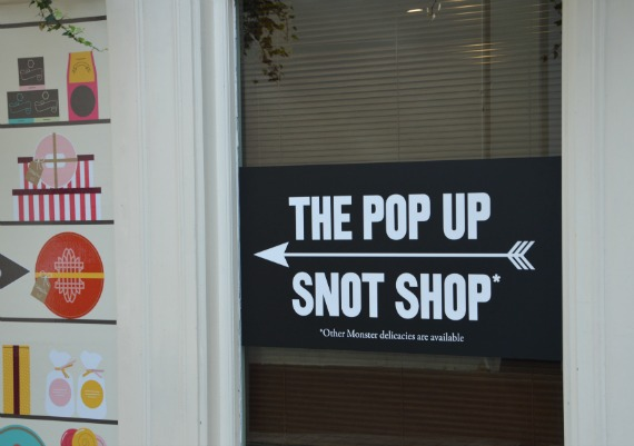 The Pop Up Snot Shop in London