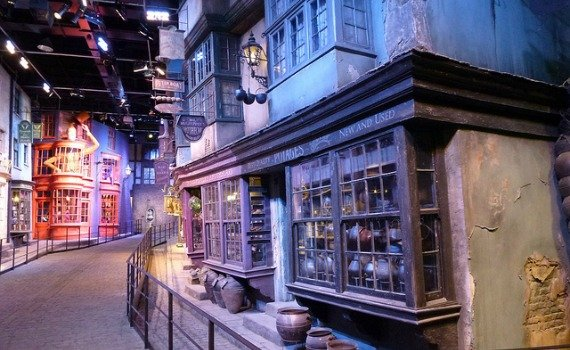 Diagon Alley Harry Potter Studios Tour London