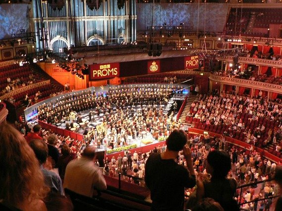 Inside the Albert Hall during the BBC Proms.