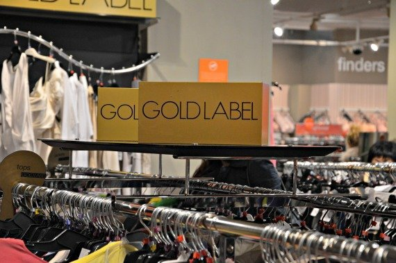 Look for the Gold Label section for the designer labels