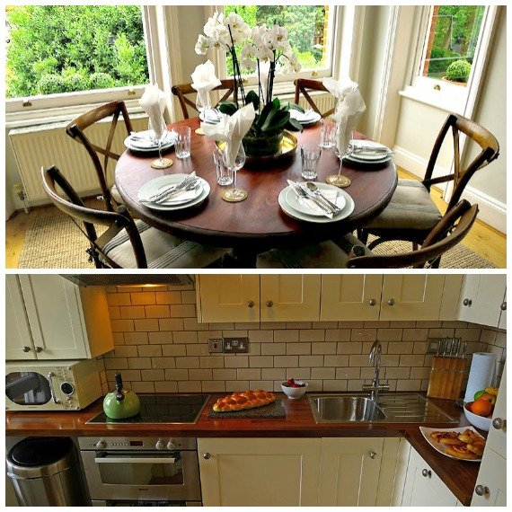 London Perfect Austen Dining Room and Kitchen