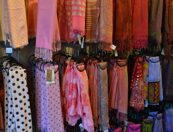 TK Mazz Discount Shopping in London Colourful scarves