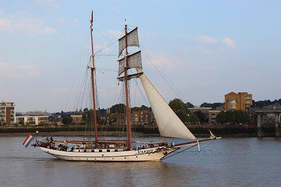 Tall Ships Festival London 2014 Sails