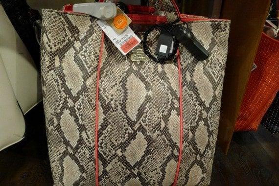 faux snakeskin designer bag sale