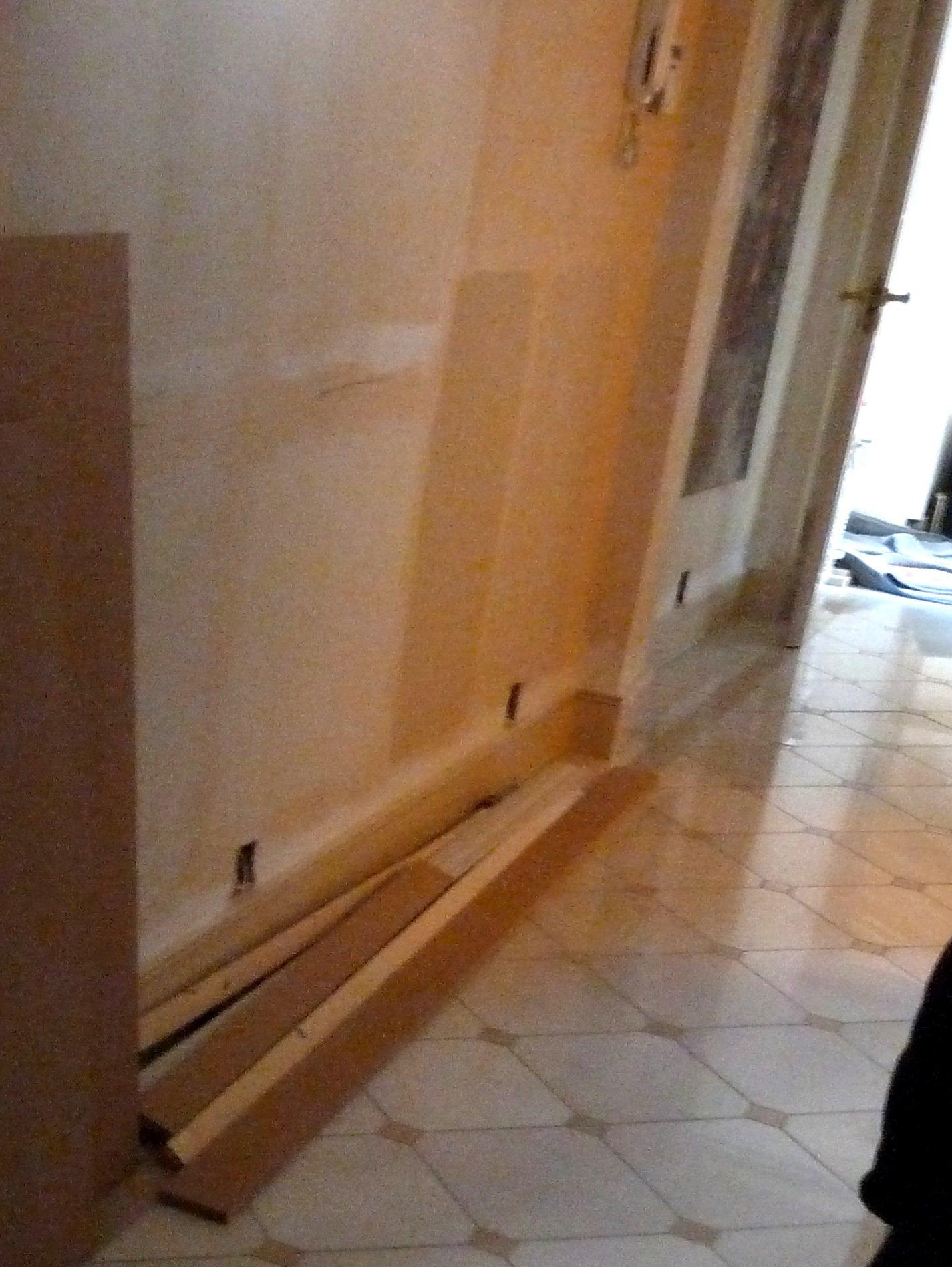 4 electrics thru walls then marble floor