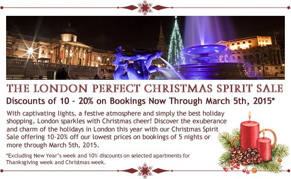 London Perfect Christmas Spirit Sale – Book Now for a Charming Winter Stay!