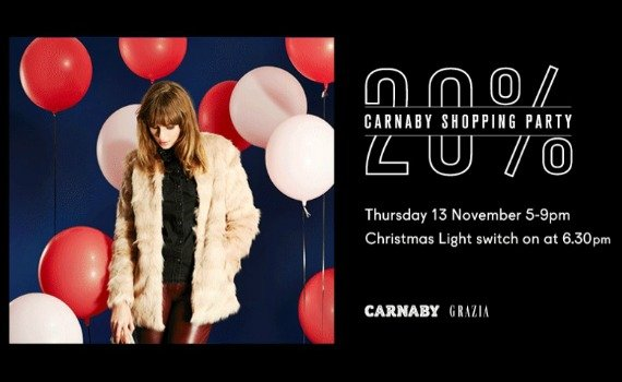 Carnaby Christmas Shopping Party – 20% Off!