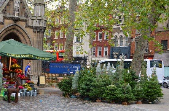 Christmas Shopping High Street Kensington London