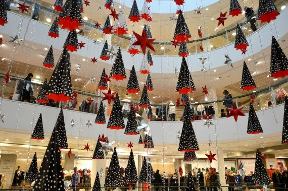 Christmas Shopping Peter Jones London