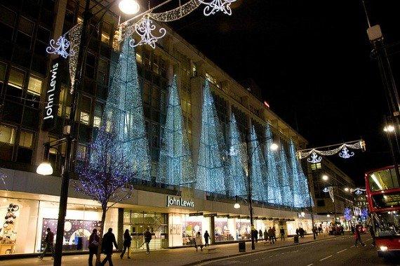 Holiday Lights John Lewis Oxford Street London