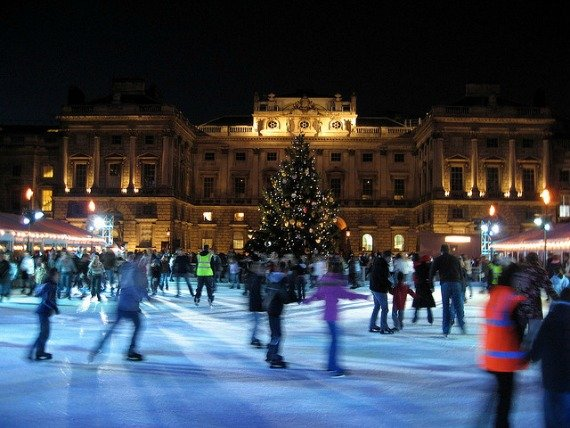 Ice Skating in London Somerset House