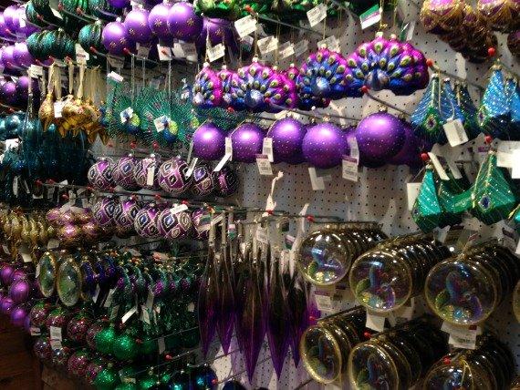 Gorgeous jewel toned Christmas decorations