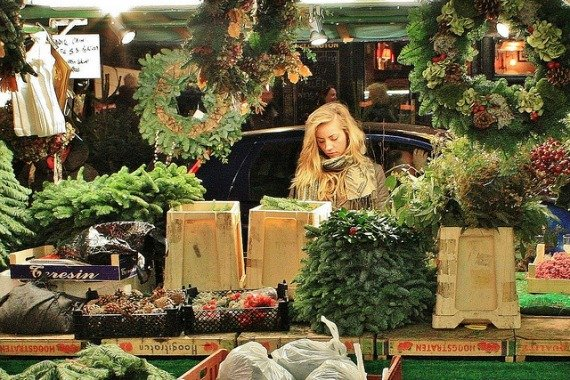 Portobello Road Market London Notting Hill Christmas