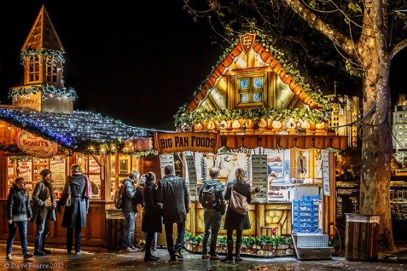 Southbank Christmas Market London England