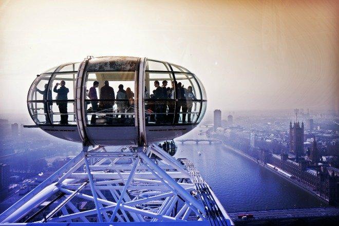 London Eye Southbank Londan Valentines day Sights