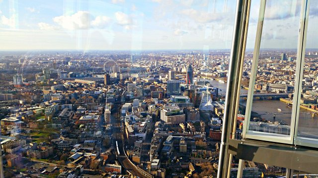 London eye view from the shard london