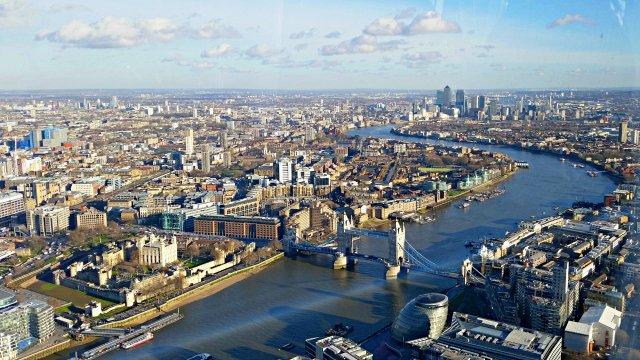 The Shard views Tower Bridge London