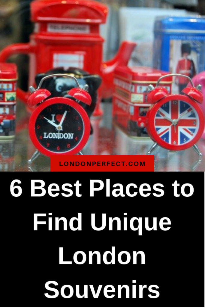 6 Best Places to Find Unique London Souvenirs by London Perfect