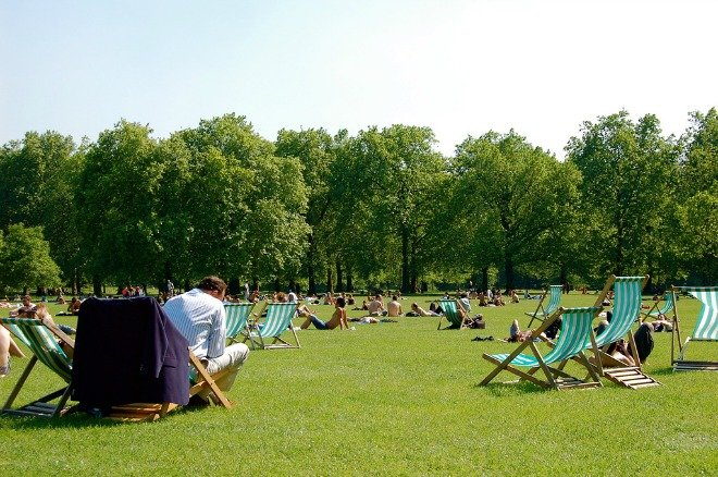 Summer in Green Park London