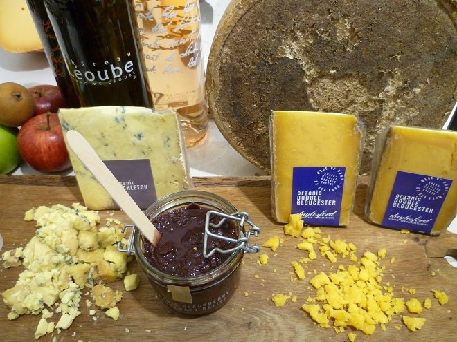 cheese selection in Westbourne Grove shop