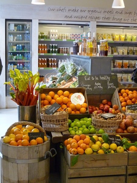 fruit and vegetables in Notting Hill shop