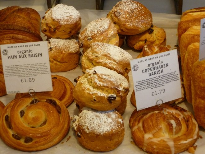 Baked goods in Westbourne Grove shop