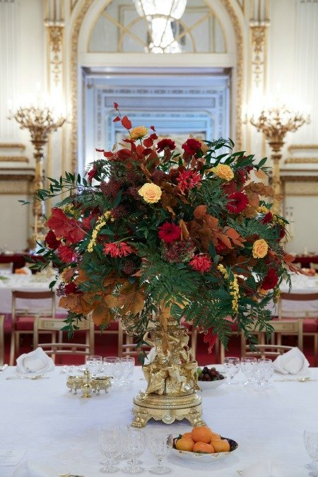Centrepiece in use during a State Banquet at Buckingham Palace Royal Collection Trust (c) Her Majesty Queen Elizabeth II, 2015